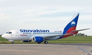 Airplane of Slovakian Airlines